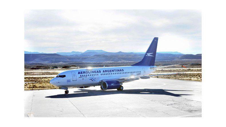 Un avión no pudo aterrizar en  Comodoro por el fuerte viento