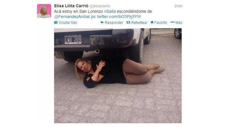 Carrió subió una foto polémica a Twitter