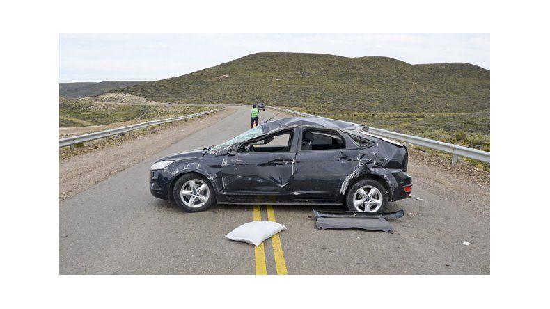 Un hombre murió a raíz de un vuelco en Cañadón Ferrays