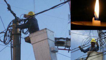 corte de luz en ocho barrios de zona sur