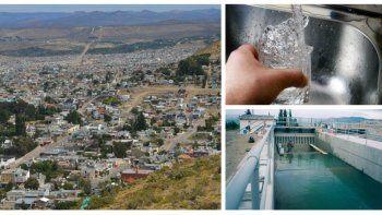 corte de agua en barrios de zona sur y norte de comodoro