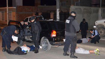 Siete detenidos: secuestraron droga
