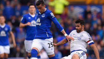 Funes Mori tuvo su debut soñado en el Everton