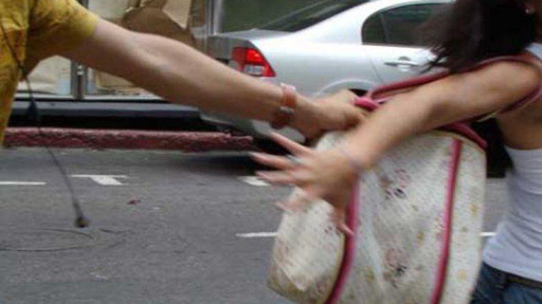 Le arrebataron la cartera a  una mujer desde un vehículo