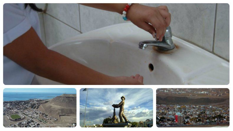 Corte de agua en Rada Tilly, Caleta Olivia y parte de Comodoro