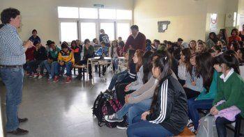La capacitación que se desarrolló en la escuela del barrio Próspero Palazzo.