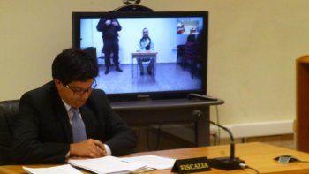 A través de videoconferencia, Pallalaf escuchó los argumentos del fiscal Martín Cárcamo que finalmente no le permitieron obtener la libertad que la Defensa Pública solicitaba.