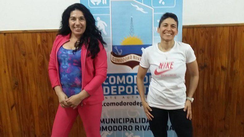 Sandra Varela y Silvia Lavalle son dos de las profesoras de la propuesta gratuita y al aire libre.