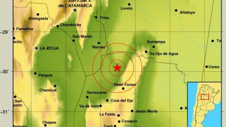 Terremoto de 5.08 grados golpeó  a Córdoba y parte de Catamarca