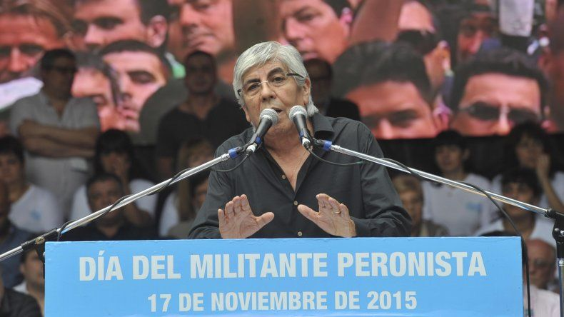 Hugo Moyano encabezó un acto por el Día de la militancia.