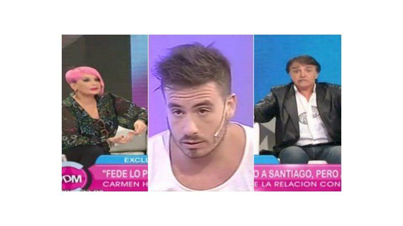 El novio de Carmen Barbieri imitó a Fede Bal