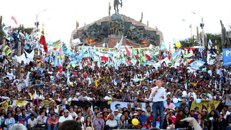 El candidato de Cambiemos encabezó un acto en Humahuaca.