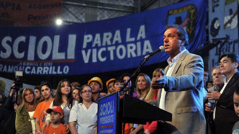 Scioli cerró la campaña