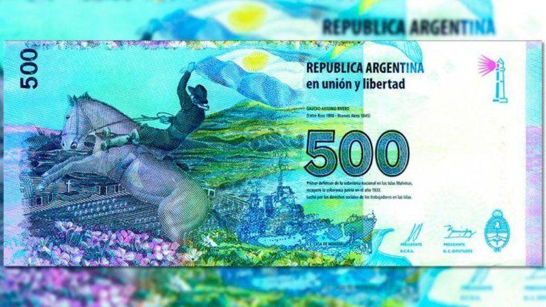 Macri descarta poner en circulación en enero un nuevo billete de 500 pesos