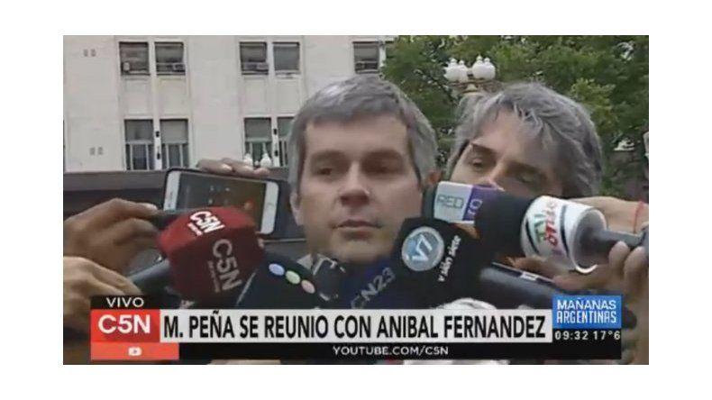 Fue una charla muy cordial, dijo Peña tras la charla con Aníbal
