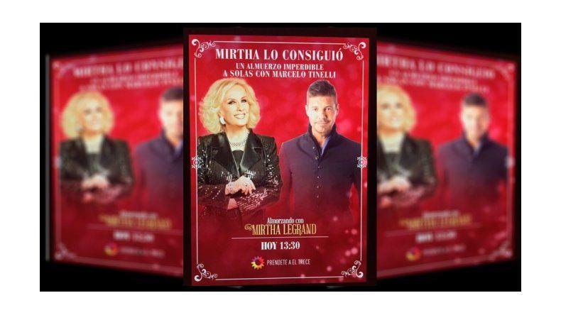 Marcelo Tinelli almorzará a solas con Mirtha Legrand