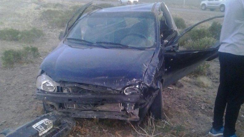 El vehículo que conducía el futbolista que falleció anteanoche tras volcar en la ruta 39.
