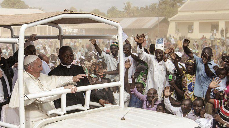El Papa durante su visita a la República Centroafricana.