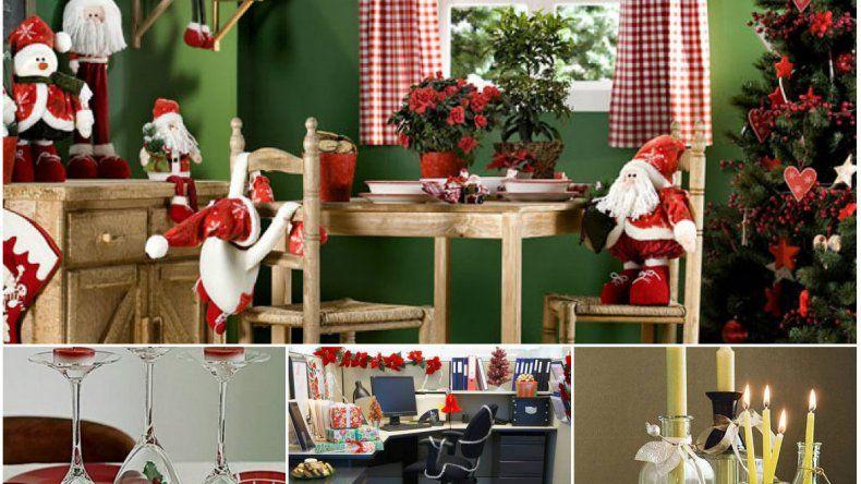 Manos a la obra tips de decoraci n navide a navidad for Decoracion navidena oficina