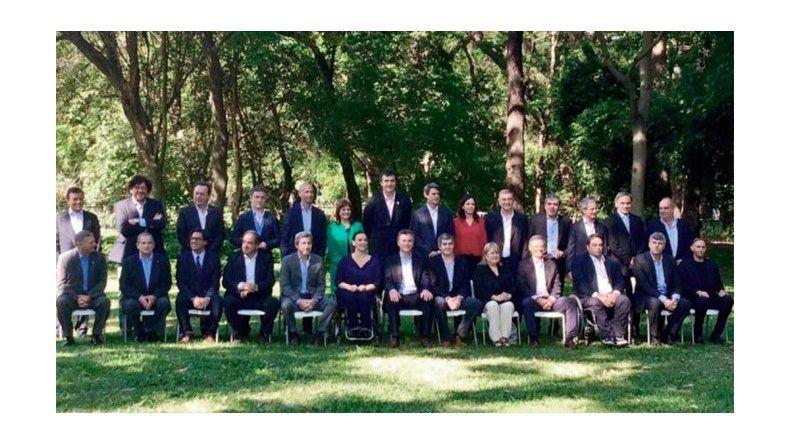 Macri presentó a su Gabinete en el Jardín Botánico