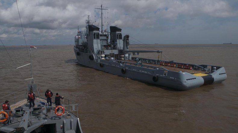 Los buques llegaron al puerto de Buenos Aires después de 45 días de navegación a través del Atlántico.