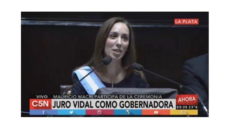 Asumió Vidal y aseguró que la provincia está quebrada