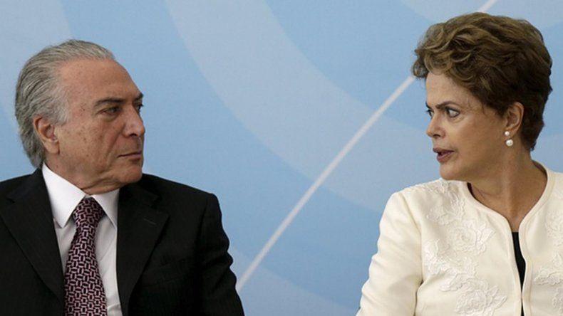 Temer y Rousseff mantienen una tensa relación institucional.