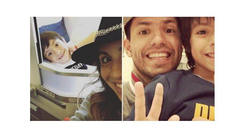 Gianinna Maradona viajó para que su hijo vea a Agüero