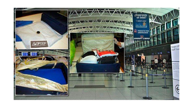 Secuestraron casi nueve kilos de cocaína líquida en el aeropuerto de Ezeiza