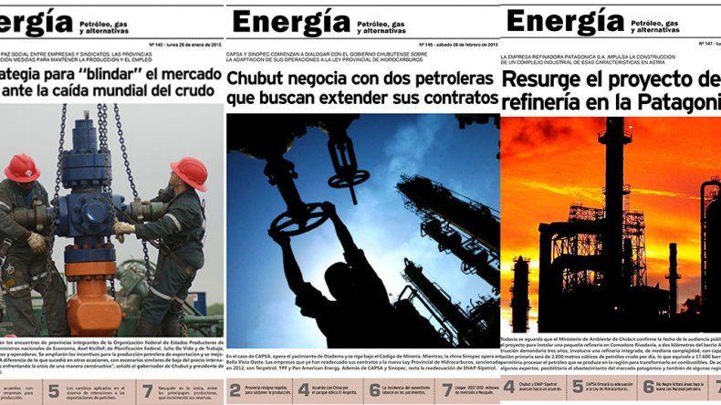 El año petrolero reflejado en las tapas de Energía