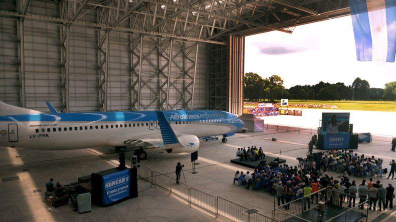 La construcción tiene capacidad para alojar al Airbus 380