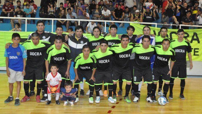 UOCRA es uno de los finalistas que tiene el torneo Clausura en la Zona de Honor del fútbol de salón oficial.