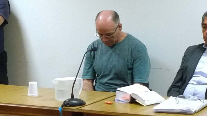 Claudio Norberto Lamonega al escuchar ayer el veredicto del tribunal.