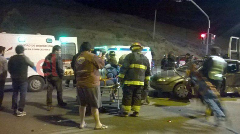 Violento accidente en ruta 3 dejó como saldo tres heridos