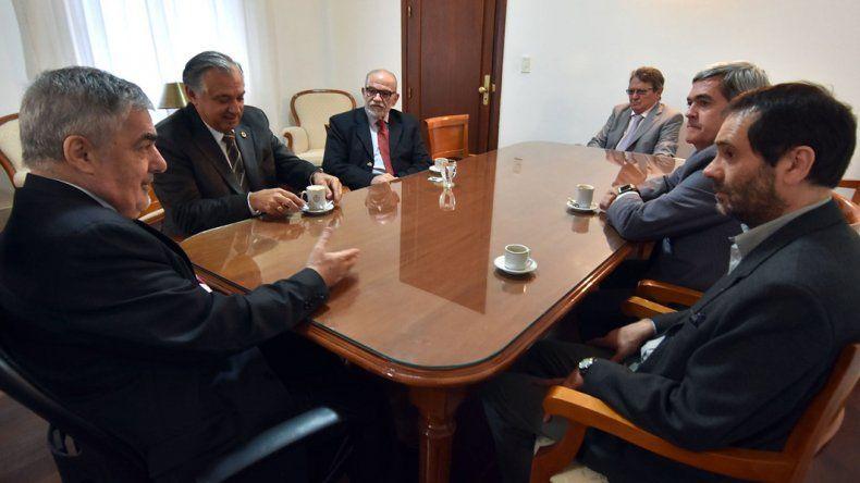 Das Neves y los ministros del Superior Tribunal de Justicia