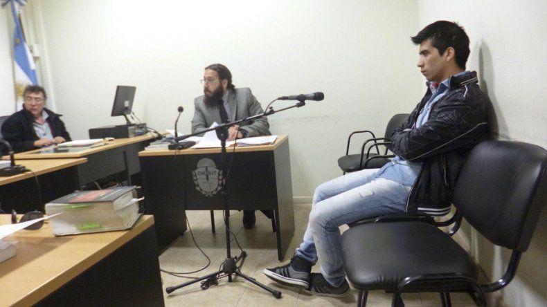 Lucas Avila Maya en la audiencia donde el juez decretó hacer lugar al pedido de su defensor.