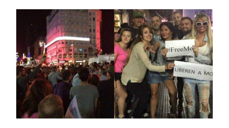 FreeMo: cientos de personas pidieron por la liberación de Moria Casán