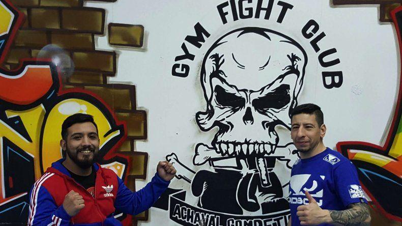 Leo Moreno y Darío Achaval dos referentes del deporte de contacto de Comodoro Rivadavia.