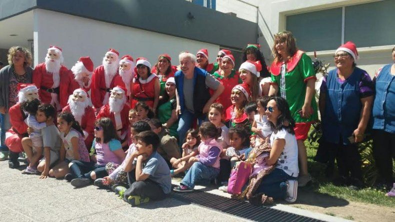 Papá Noel recorrió los barrios de Comodoro