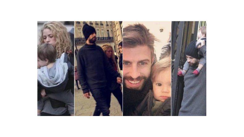 Las románticas vacaciones de Shakira y Gerard Piqué en París