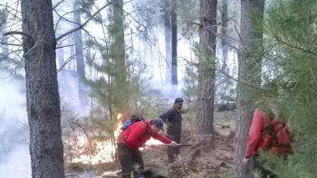 Con celeridad, equipos y mucho trabajo, se controló el jueves el incendio que se había originado a 10 kilómetros de Corcovado.