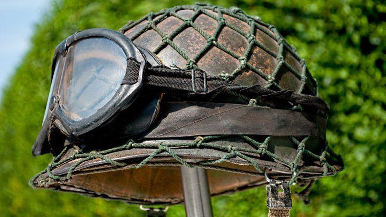 La aparición del casco que José Muñoz utilizó en la Guerra de Malvinas