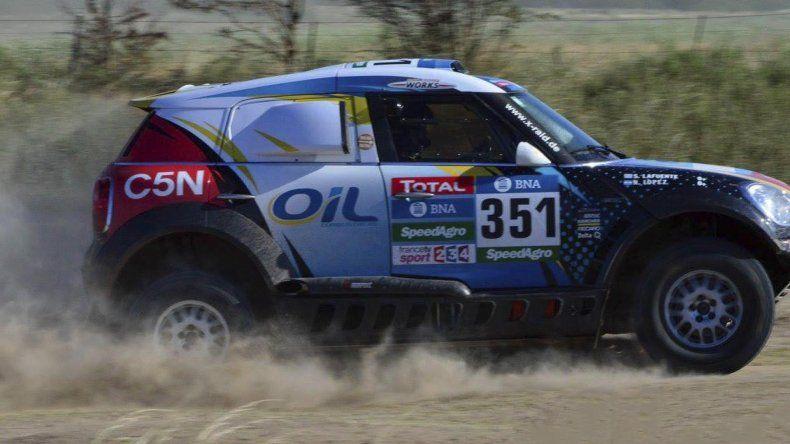 El MINI de Nazareno López que ayer cumplió un gran papel en la segunda etapa del Dakar.
