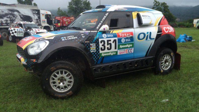 Nazareno López tuvo problemas en la suspensión delantera pero volvió a la competencia y el sábado terminó 22° en la séptima etapa.