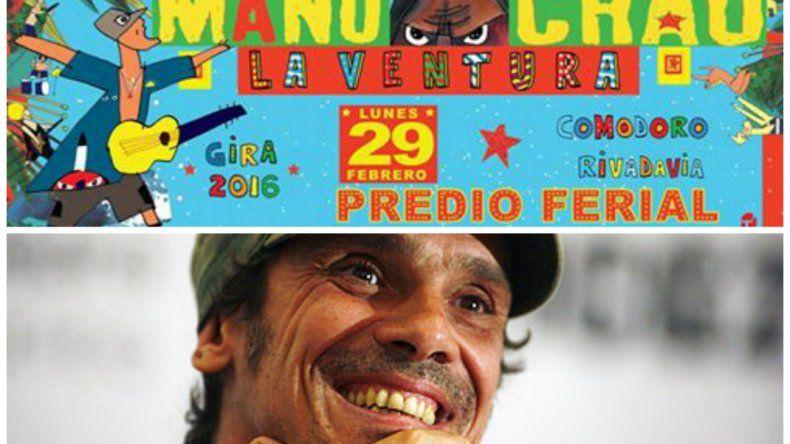 ¡Se confirmó! Manu Chao tocará en Comodoro