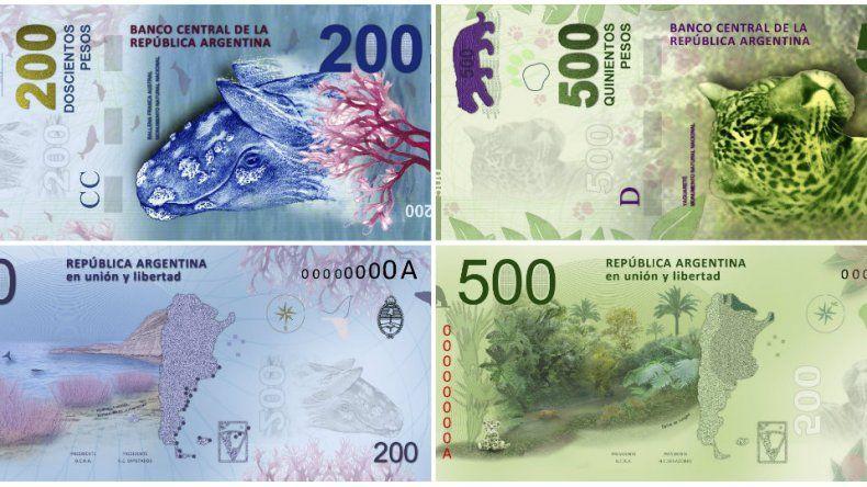El BCRA pondrá en circulación billetes de 200 y de 500 pesos