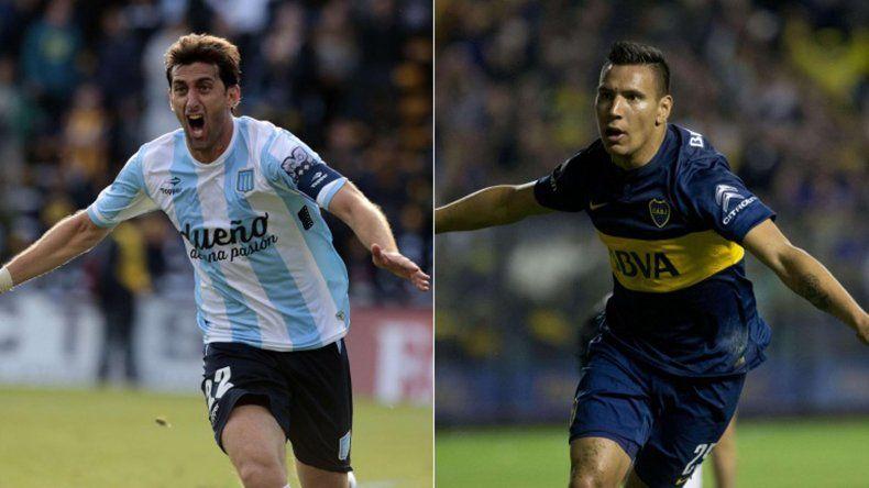 Diego Milito y Andrés Chávez serán titulares esta noche en el duelo entre Racing y Boca en Mar del Plata.