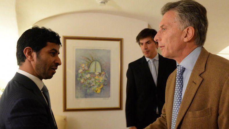 Mauricio Macri en el encuentro que mantuvo ayer con Jamal Al Dhaheri