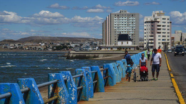 Paseo costero de Comodoro Rivadavia. Foto: Mauricio Macretti / El Patagónico