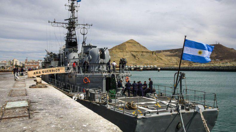 Desde ayer por la mañana la corbeta ARA Guerrico se encuentra en el Puerto de Comodoro Rivadavia donde permanecerá hasta mañana.